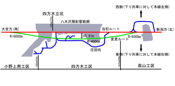 Nakayama tunnel first route change map ja.png