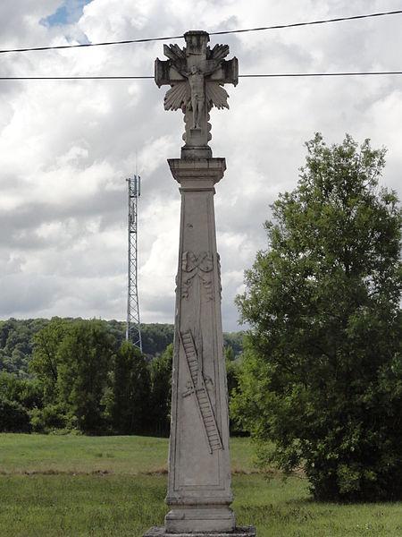 Nançois-sur-Ornain (Meuse) croix de chemin
