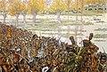 Napoleone attraversa il fiume Elster con il suo esercito durante la battaglia di Lipsia.jpg