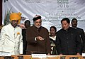 Narendra Modi at the plenary session of National Conference on Sustainable Agriculture & Farmers Welfare, in Gangtok. The Governor of Sikkim, Shri Shriniwas Dadasaheb Patil and the Chief Minister of Sikkim.jpg