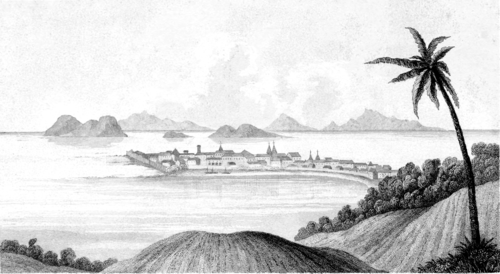 Narrative of a Voyage around the World - City of Panama, from Caledonia Hill.png