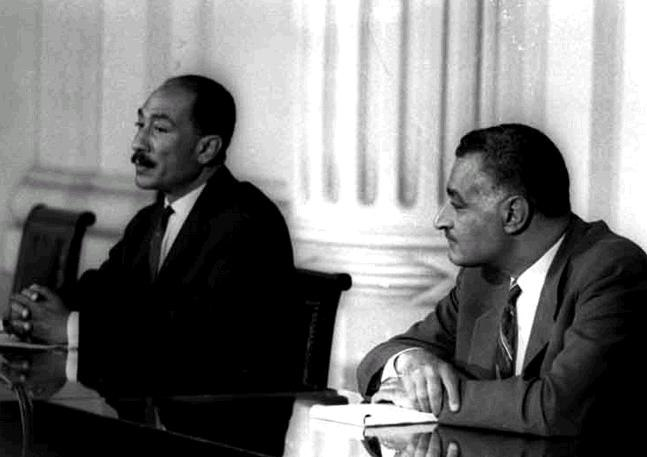 Nasser and Sadat in National Assembly
