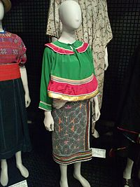 National Museum of Ethnology, Osaka - Woman's costume, Amazon - Shipibo people in Peru - Collected in 1997.jpg