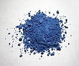 Pigmento natural azul marino en forma de polvo.
