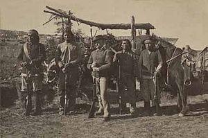 Navajo Scouts - Image: Navajo scouts Fort Wingate circa 1890