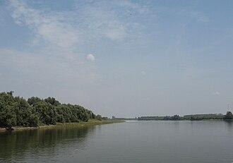 Mezzani - Po river near Mezzani.