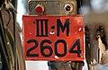 Nederlandse kentekenplaat III M 2604 Militair kenteken Cavelarie.jpg