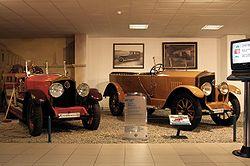 Nesselsdorf T - 2 cars in Tatra Museum.JPG