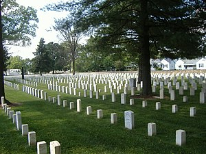 New Albany National Cemetery - New Albany National Cemetery graves, June 2008