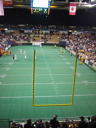 Continental Indoor Football League - The DCU Center during a 2007 New England Surge game.