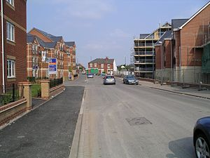 Highfield Road - Image: New buildings on thackhall st 27a 07
