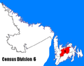 Newfoundland and Labrador Census Division No. 6 location.PNG