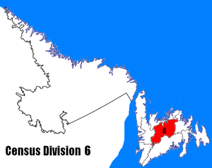 Division No. 6, Newfoundland and Labrador - Image: Newfoundland and Labrador Census Division No. 6 location