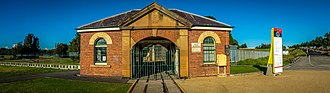 Newington Armory - The entrance to the Newington Armory, built in 1897.