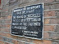 Newport Watchbell Lane old cycling notice.JPG