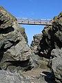 Newquay, Bridge to Porth Island at low tide - geograph.org.uk - 370994.jpg