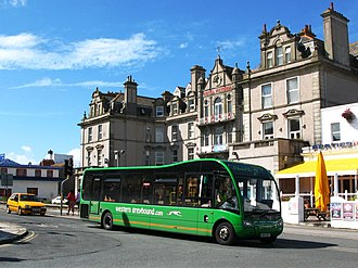 Western Greyhound - Optare Solo in East Street, Newquay, August 2011