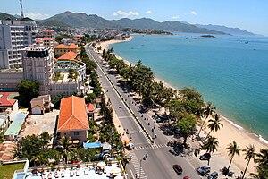 Bờ biển thành phố Nha Trang tỉnh Khánh Hòa
