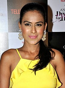 Nia Sharma at Tellychakkar's bash.jpg