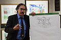 Nick Bruel drawing Bad Kitty at Mazza Museum.jpg