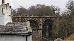 Nidd Viaduct from the Parsonage, Knaresborough (19th March 2013).JPG
