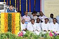 Nitin Gadkari addressing at the foundation stone laying ceremony of four National Highway projects, in Hyderabad.JPG