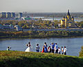 Nizhny Novgorod. The Wedding and Alexander Nevsky Cathedral at the other side of Oka river.jpg