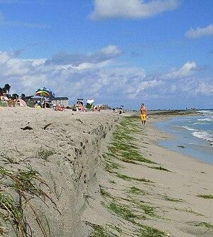 Flat coast - Beach losses after a hurricane