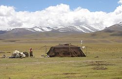 Pastoral nomads camping near Namtso in 2005