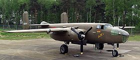 Un B-25 en exposition statique.