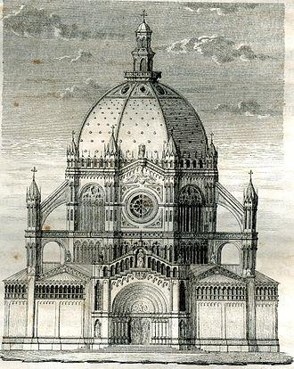 Saint Mary's Royal Church - Image: Nouvelle église Ste Marie, projet original par Louis van Overstraeten