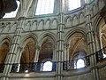 Noyon (60), cathédrale Notre-Dame, chœur, rond-point de l'abside, parties hautes côté nord 2.jpg