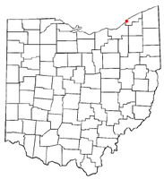 Location of Lakeline, Ohio