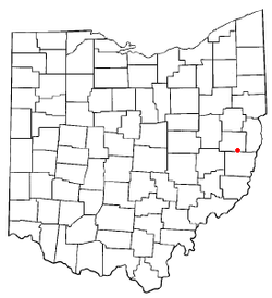 Location of New Athens, Ohio