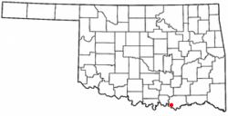 Location of Colbert, Oklahoma