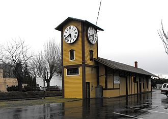 Mt. Angel, Oregon - Mt. Angel railway depot