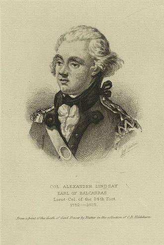 Alexander Lindsay, 6th Earl of Balcarres - Alexander Lindsay