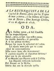 A la Reconquista de la Capital de Buenos Ayres
