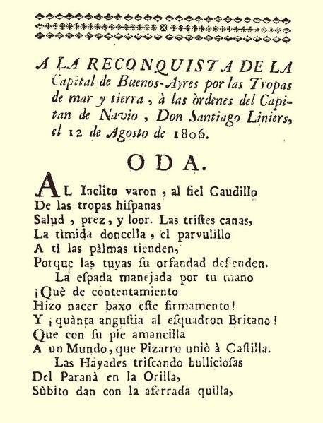 File:Oda. A la Reconquista de la Capital de Buenos Ayres.pdf