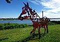 Oeuvre du sculpteur saskatchewannais Joe Fafard. Notre-Dame-de-la-Garde, Québec.jpg