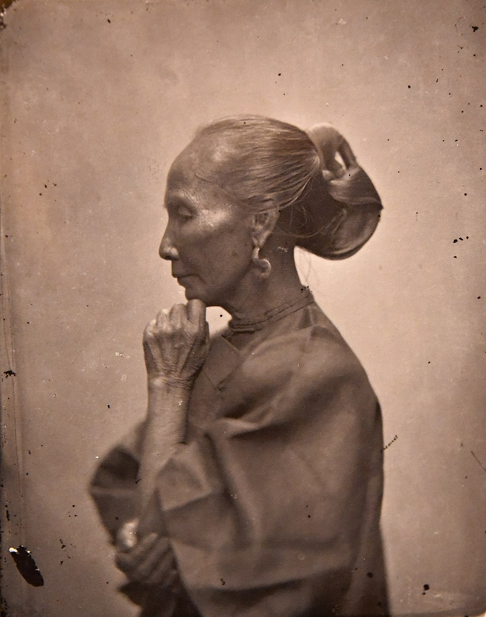 Old Chinese woman with elaborate hair style. John Thomson. China, 1869. The Wellcome Collection, London