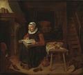 Old Woman Reading the Bible (Quiringh Gerritsz. van Brekelenkam) - Nationalmuseum - 17360.tif