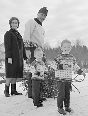 Ole Ellefsæter - Ellefsæter with family in 1966