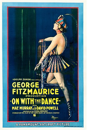 On with the Dance (1920 film) - Theatrical poster
