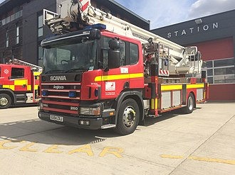 Hertfordshire Fire and Rescue Service - Image: One of Hertfordshire's Aerial Ladder Platforms