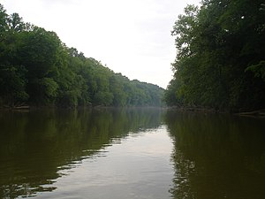 Oostanaula River - The Oostanaula River near the Gordon and Floyd County line. (Photo taken by Jonathan Robert Correll, May 2006