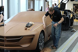 Clay modeling - Image: Opel 50 Jahre Design (14541643013)