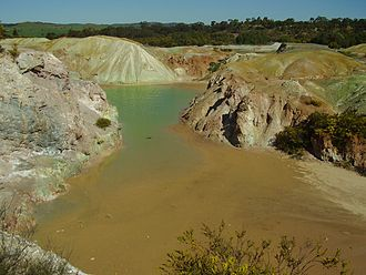 Kapunda - Image: Open pit copper mine kapunda south australia