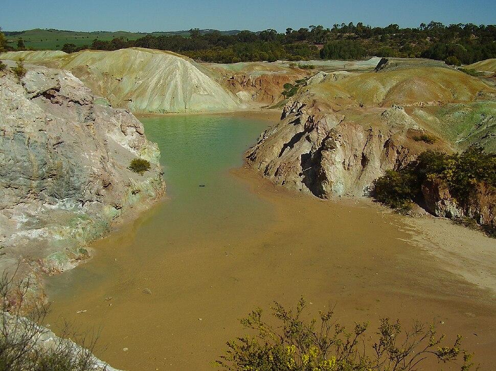 Open pit copper mine-kapunda south australia