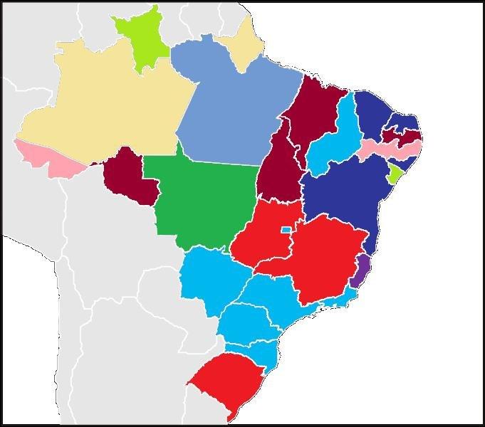 Origin of the people that work in Brazil
